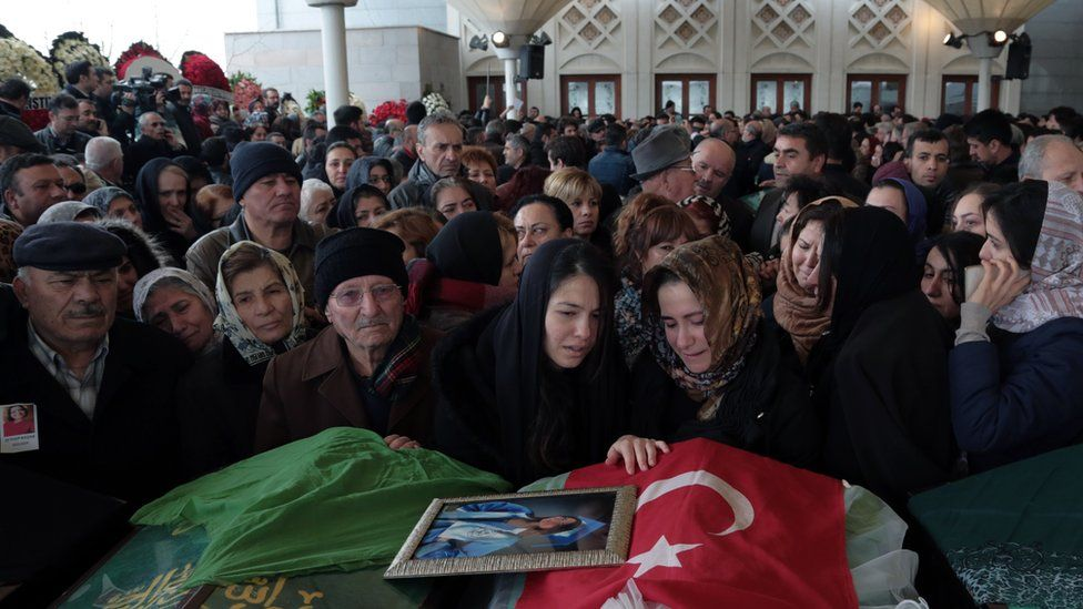 Funeral for victim of Ankara attack. 15 March 2016