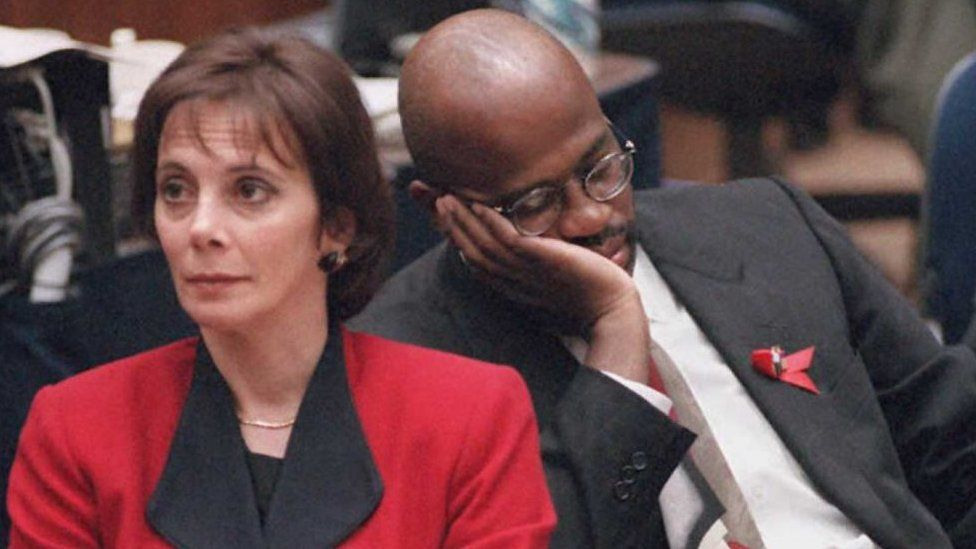 Marcia Clark and Christopher Darden during the 1995 trial
