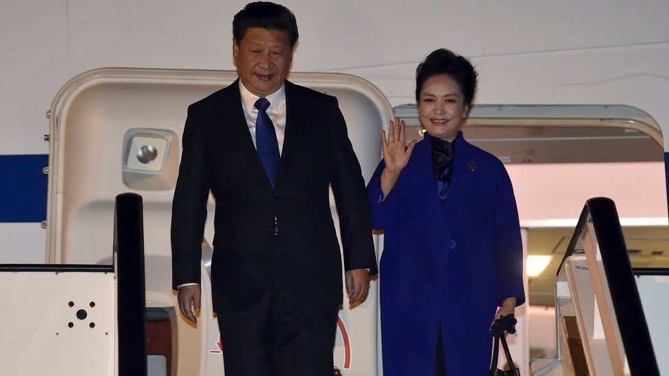 Chinese President Xi Jinping and his wife