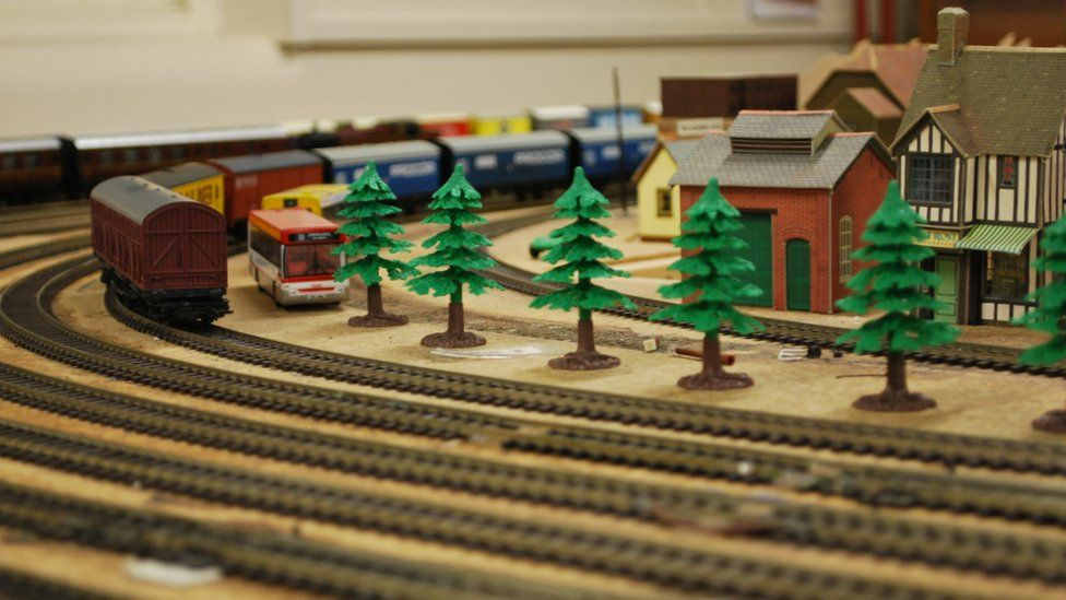 model railway train set