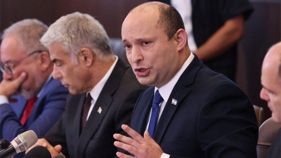 Naftali Bennett holds a cabinet meeting in Jerusalem