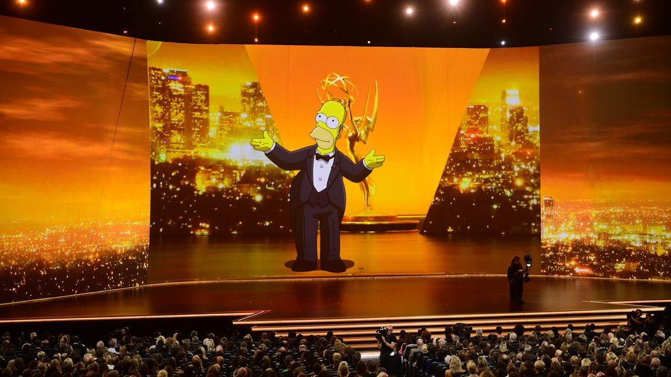 Homer Simpson at the Emmy Awards