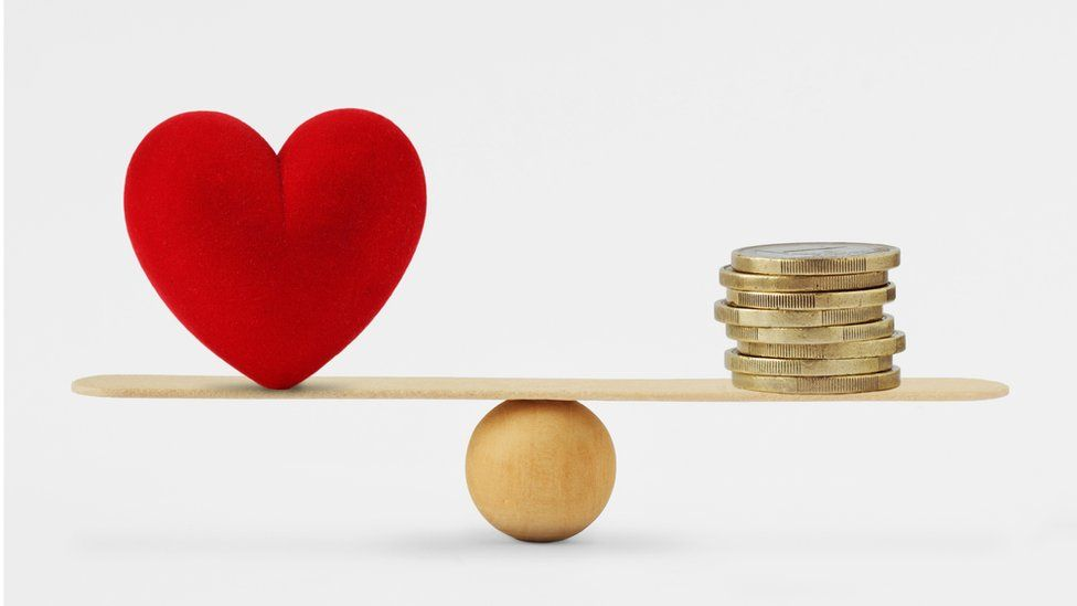 Heart and money balancing