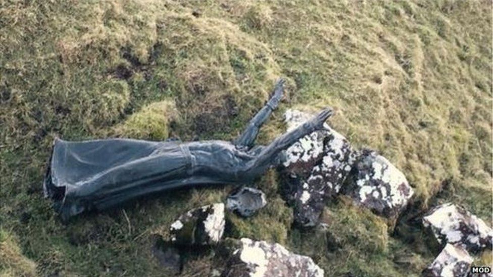 The statue was found by a group of ramblers
