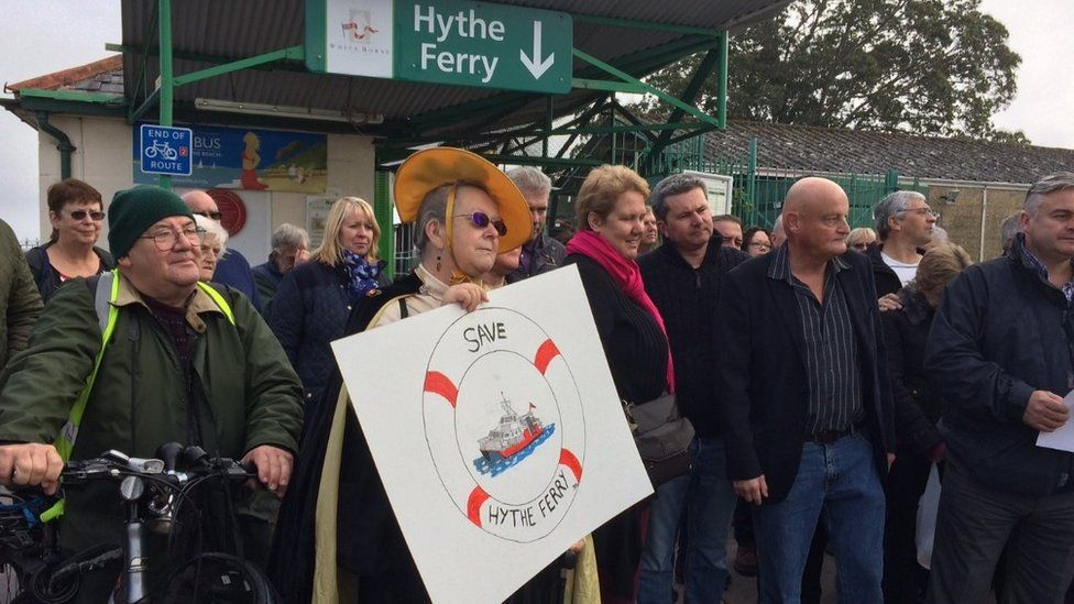 Hythe Ferry protest