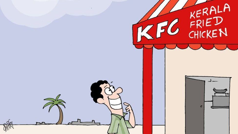 Indian version of KFC in cartoon