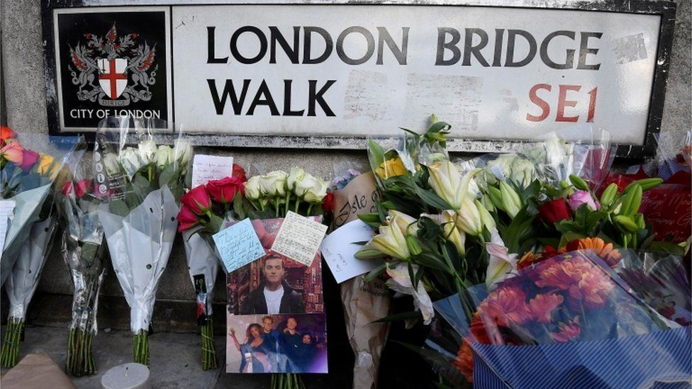 Flowers laid need scene of the attack