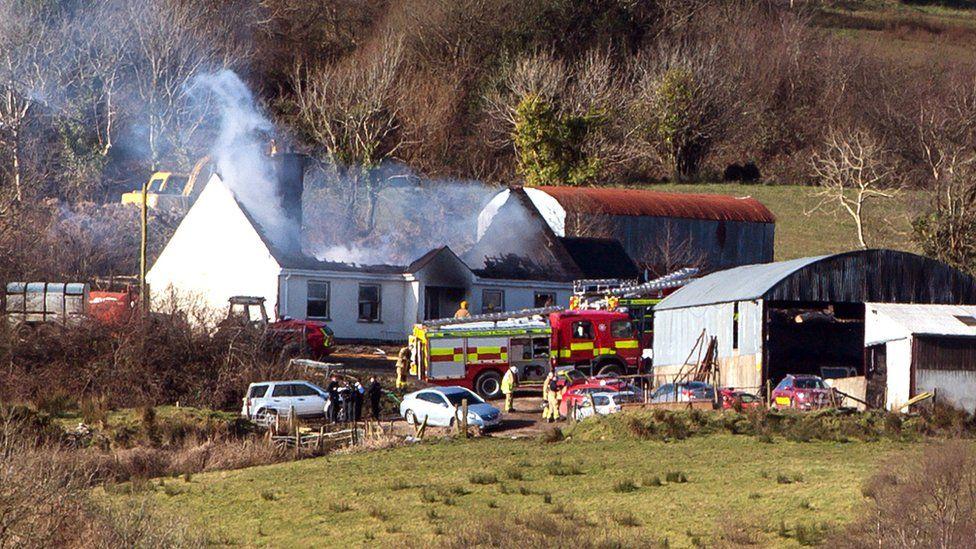 Scene of fatal house fire on 27 February