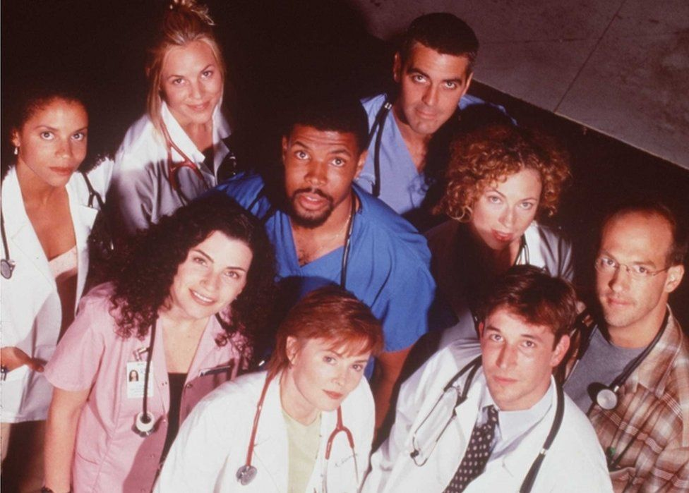 The cast of ER pictured in 1997
