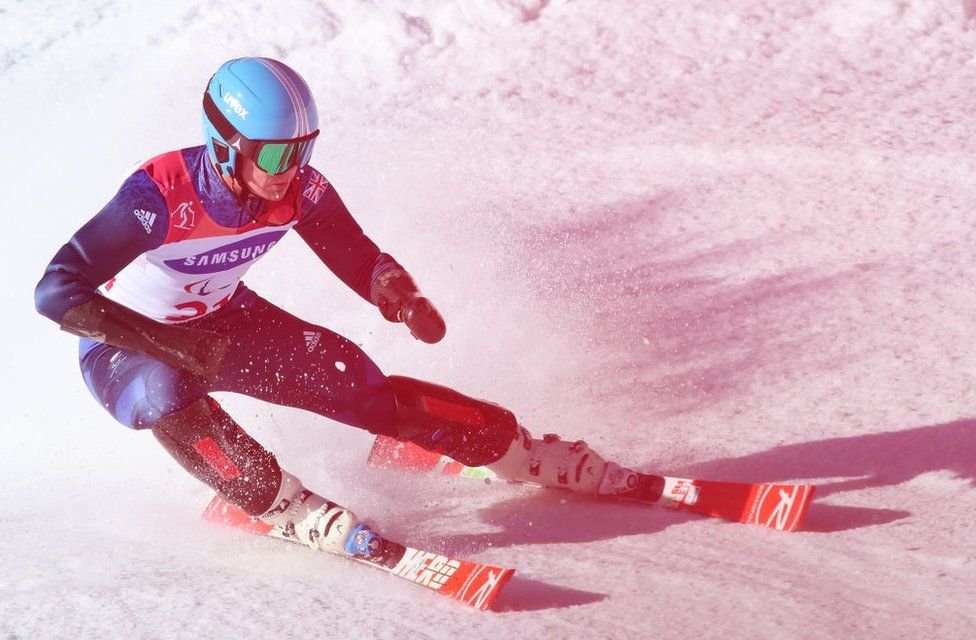James Whitley of Great Britain competes in the Men's Slalom Run
