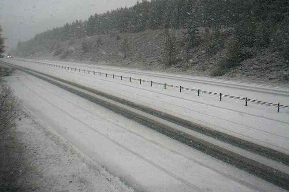 Snow at the Slochd