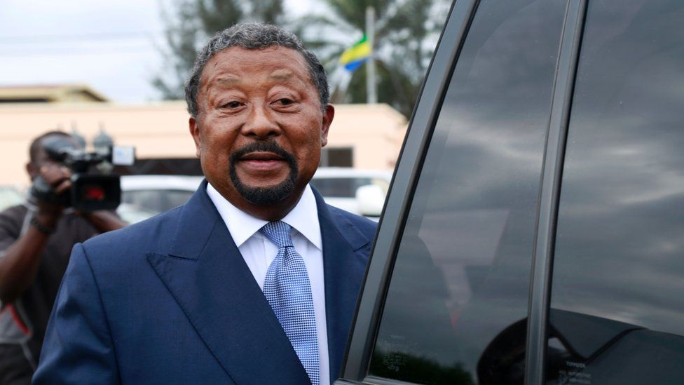 """Gabon""""s main opposition candidate for the 2016 presidential election and former African Union chief Jean Ping arrives to a meeting with other opposition leaders on August 16, 2016 in Libreville"""