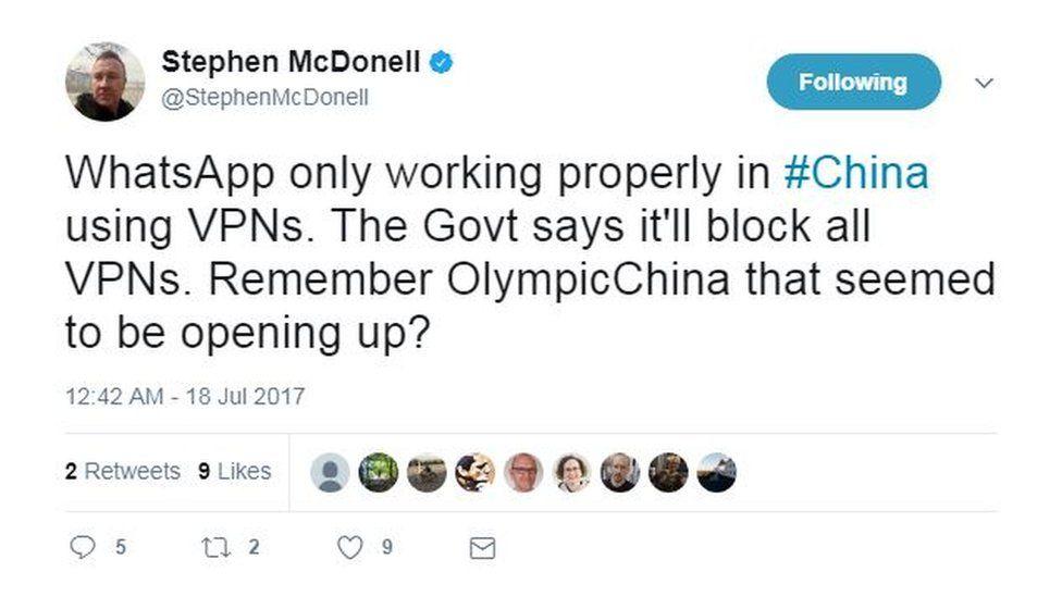 Stephen McDonell tweet