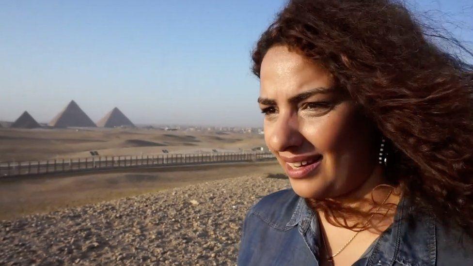 Shahenda Adel, an Egyptian tour guide