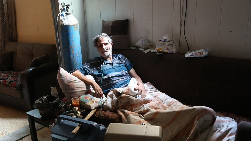 Aissa Rashid at his home in the Shatila Palestinian refugee camp, in Lebanon