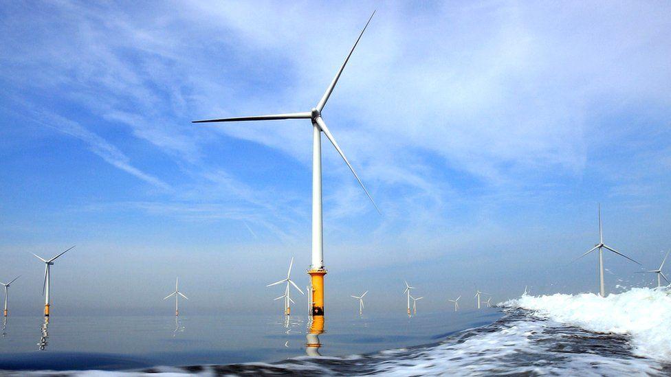 Burbo Bank off-shore wind farm.