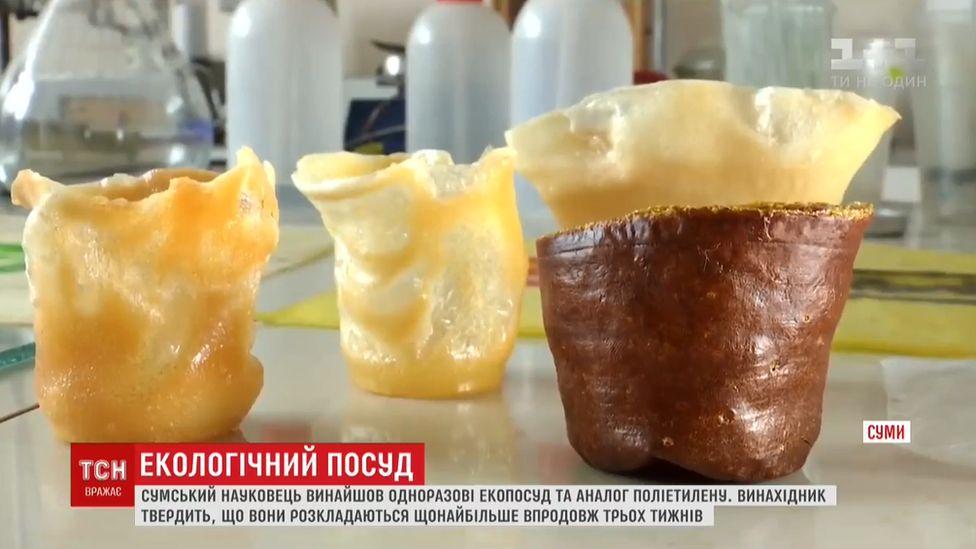 Ukrainian edible cups