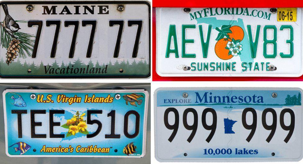 Four US plates