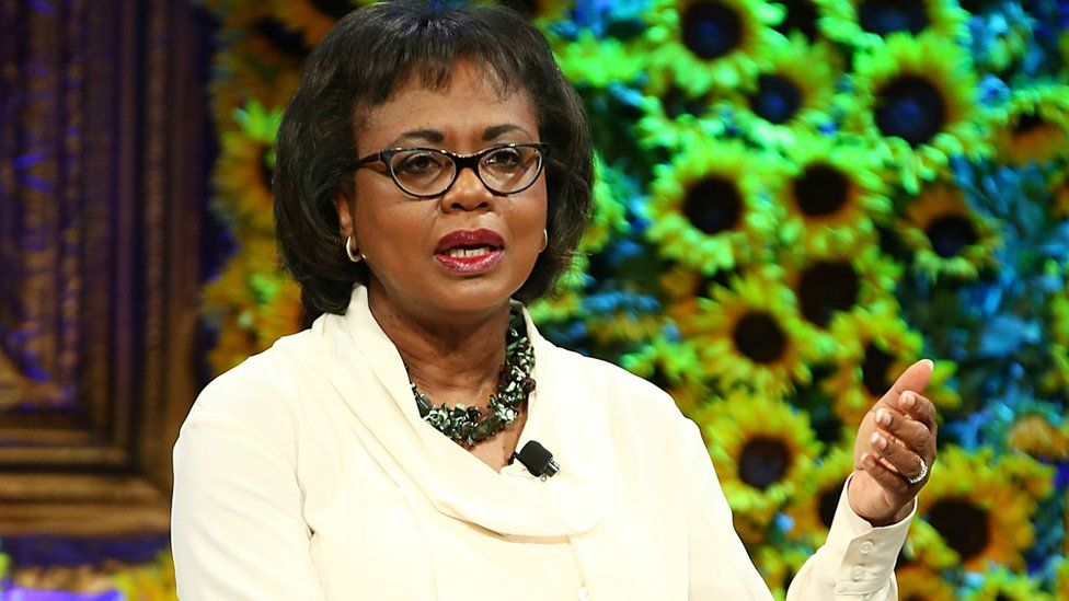 Anita Hill speaking at the Fortune Most Powerful Women Summit 2016