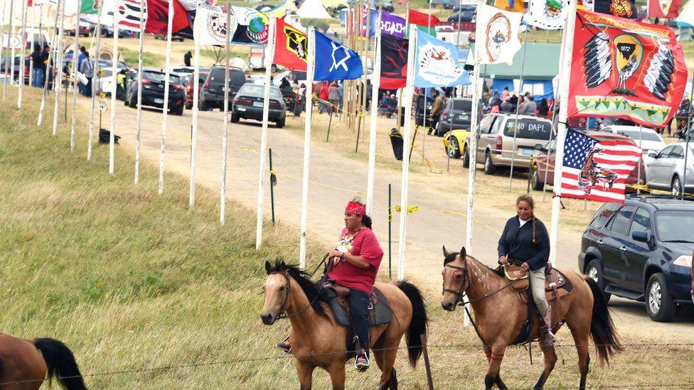Native American protesters