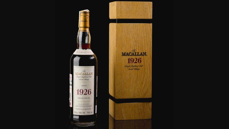 Record-setting Macallan 1926 single malt whisky