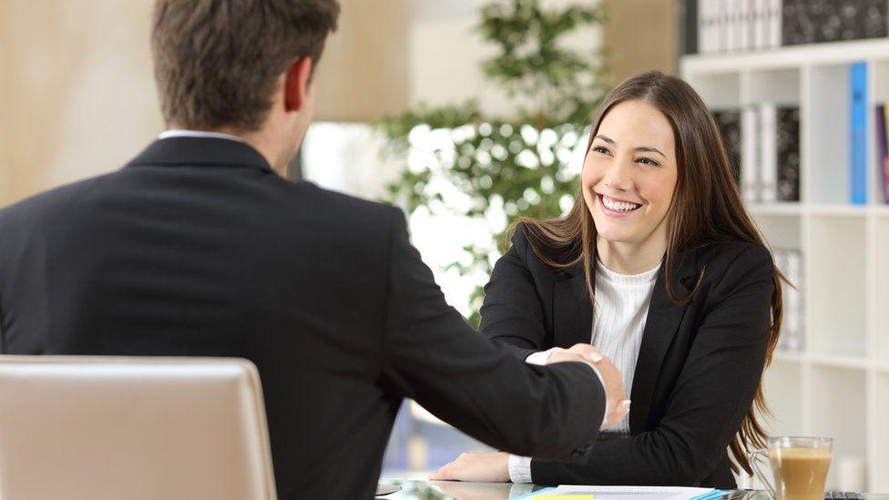 Handshake during job interview