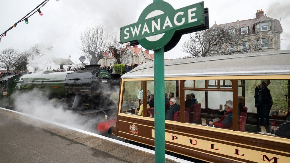 The Flying Scotsman couples up with the Devon Belle Pullman observation carriage