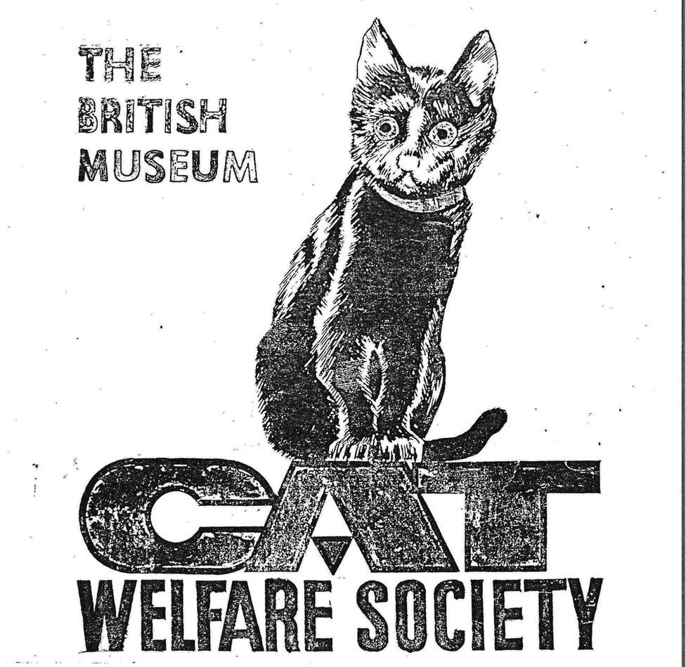 Poster for the British Museum Cat Welfare Society