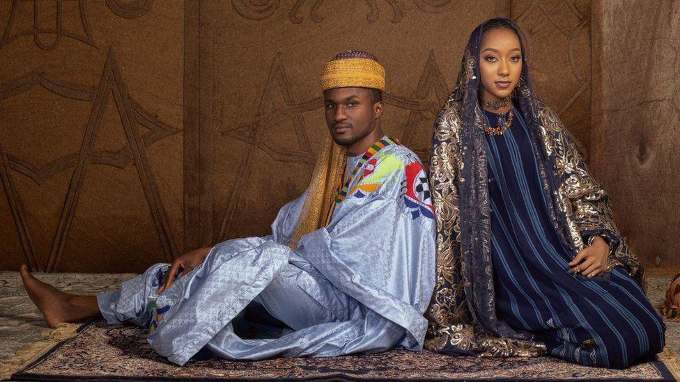 Yusuf Buhari and Zahra Nasir Bayero