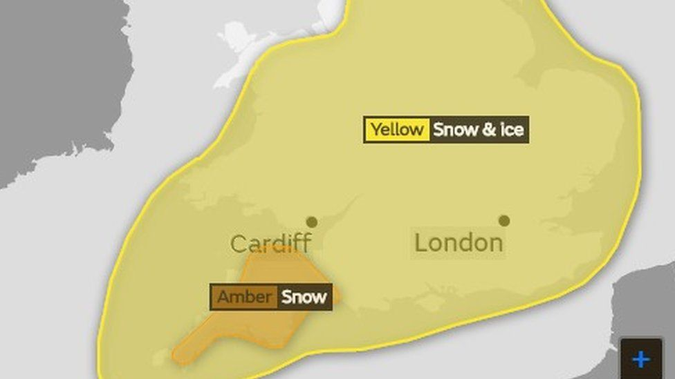 The Met Office yellow weather warning