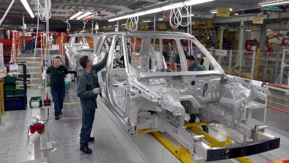 Workers at JLR's plant in Solihull