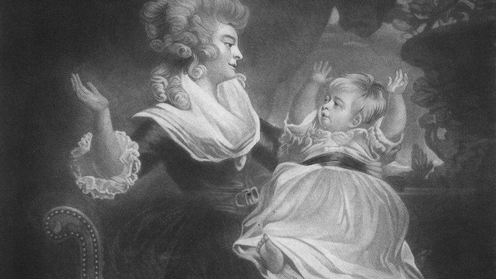 A portrait of the Duchess of Devonshire, Georgiana Spencer