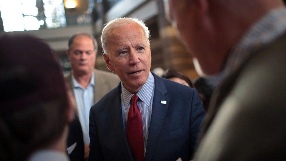 Biden speaks to supporters
