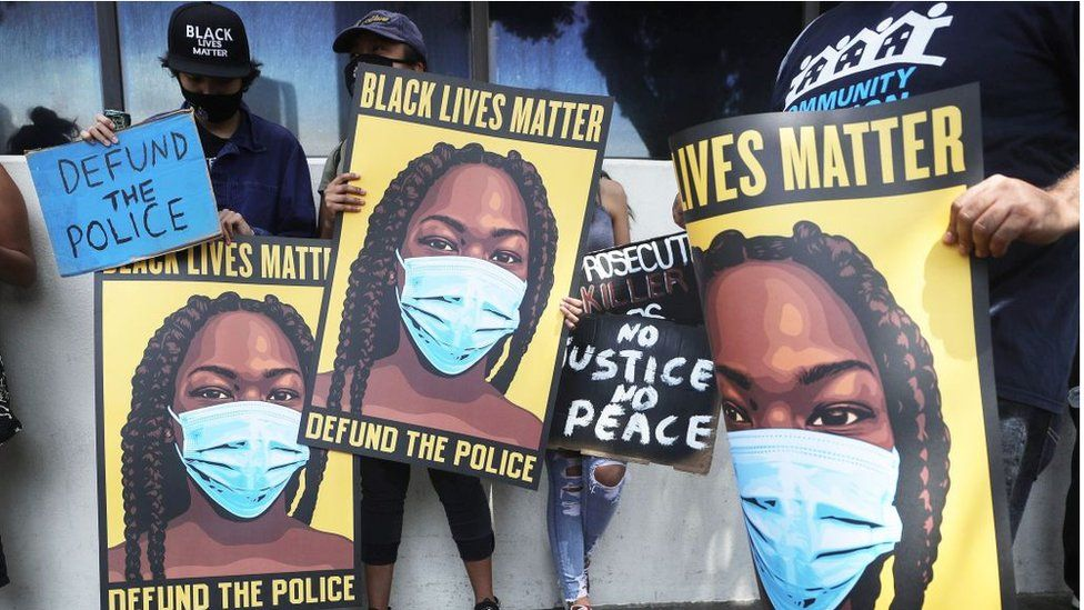 Protesters call for defunding the police