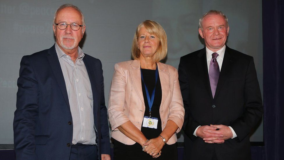 Colin and Wendy Parry with Sinn Féin's Martin McGuinness in 2013