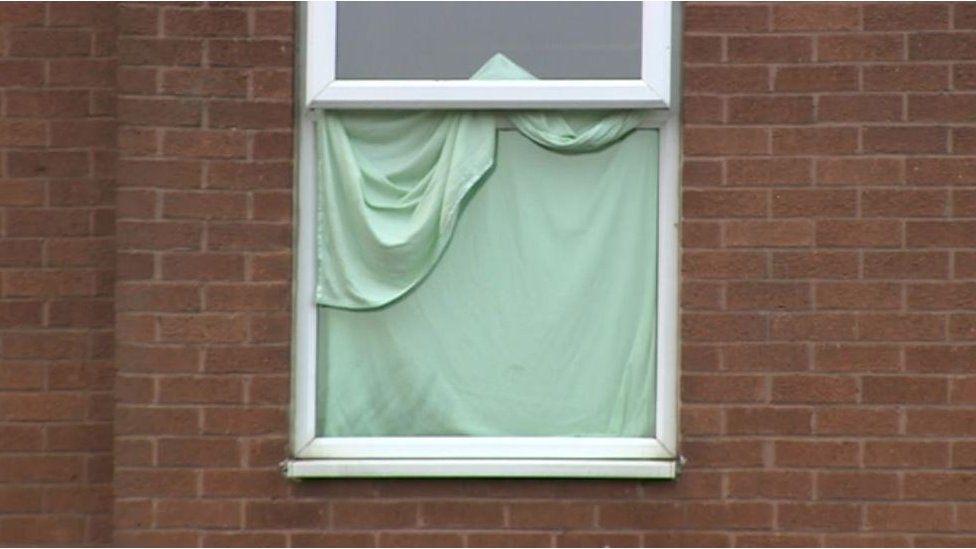 Blanket over window