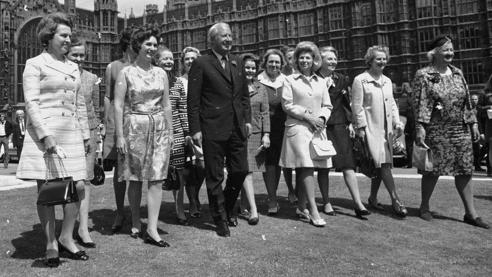 Edward Heath with women MPs in 1970