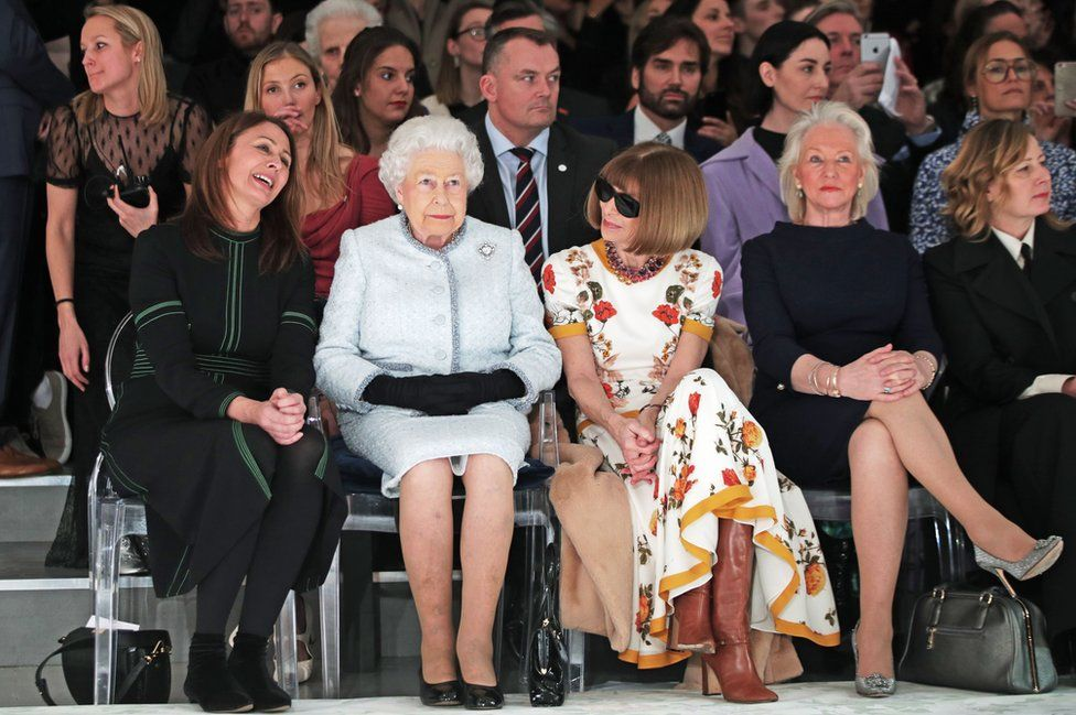 The Queen on the front row