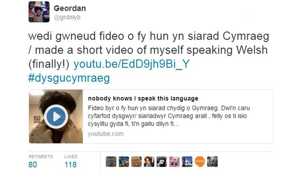 tweet cymraeg