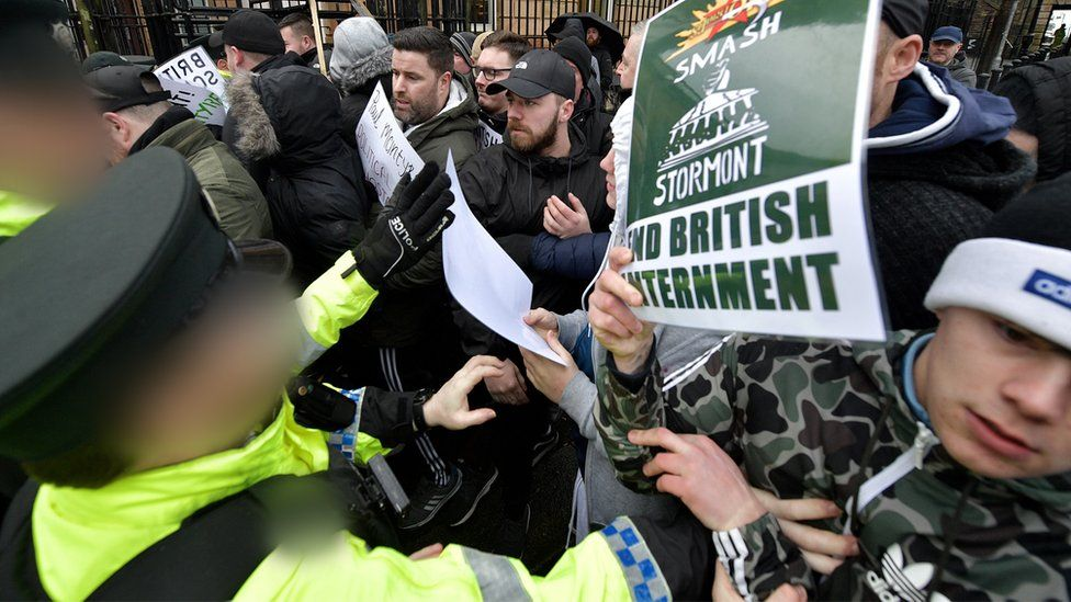 clashes outside derry court