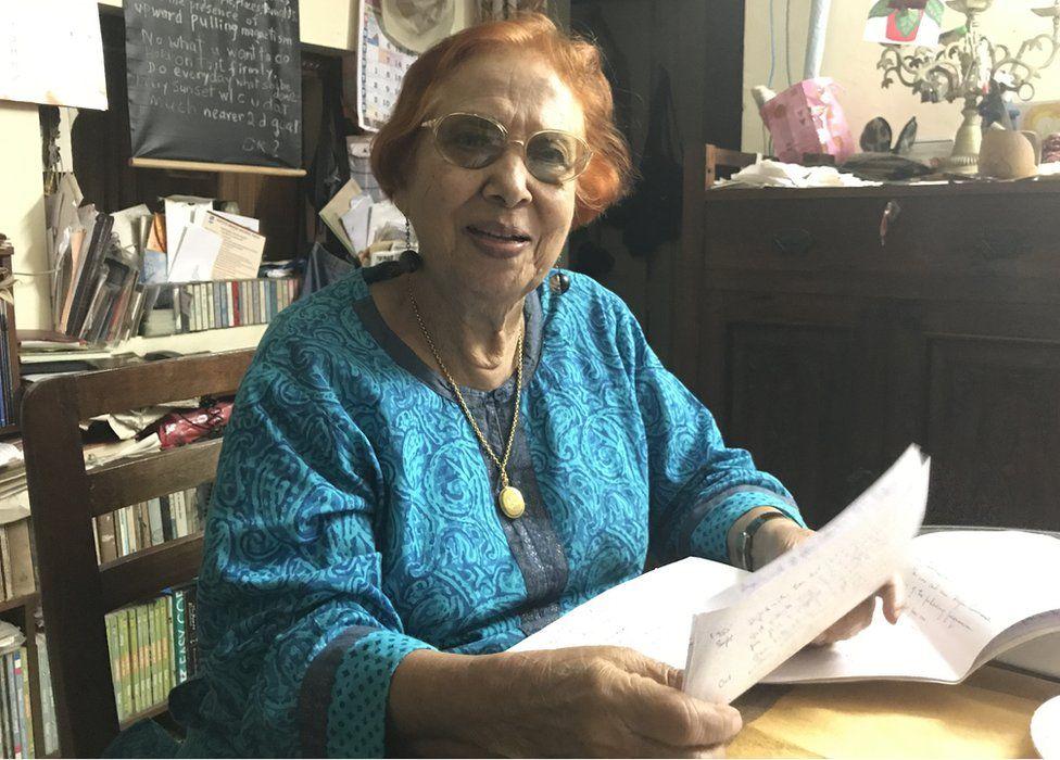 Libia Lobo Sardesai at her home