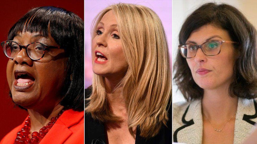 Labour's Diane Abbott, Tory Esther McVey and Lib Dem Layla Moran