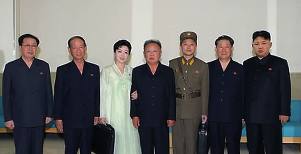 Picture of North Korean leadership disseminated around July 2011