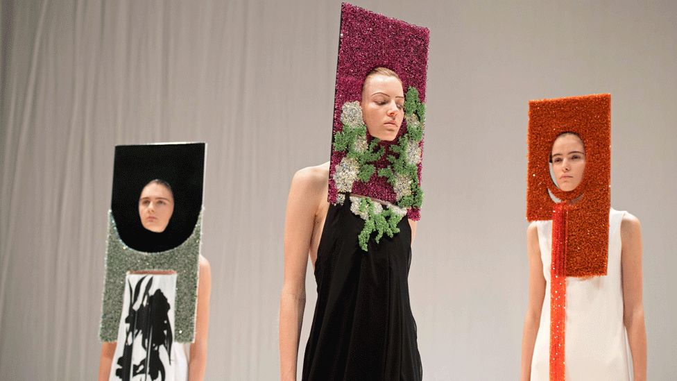 Hussein Chalayan models at LFW