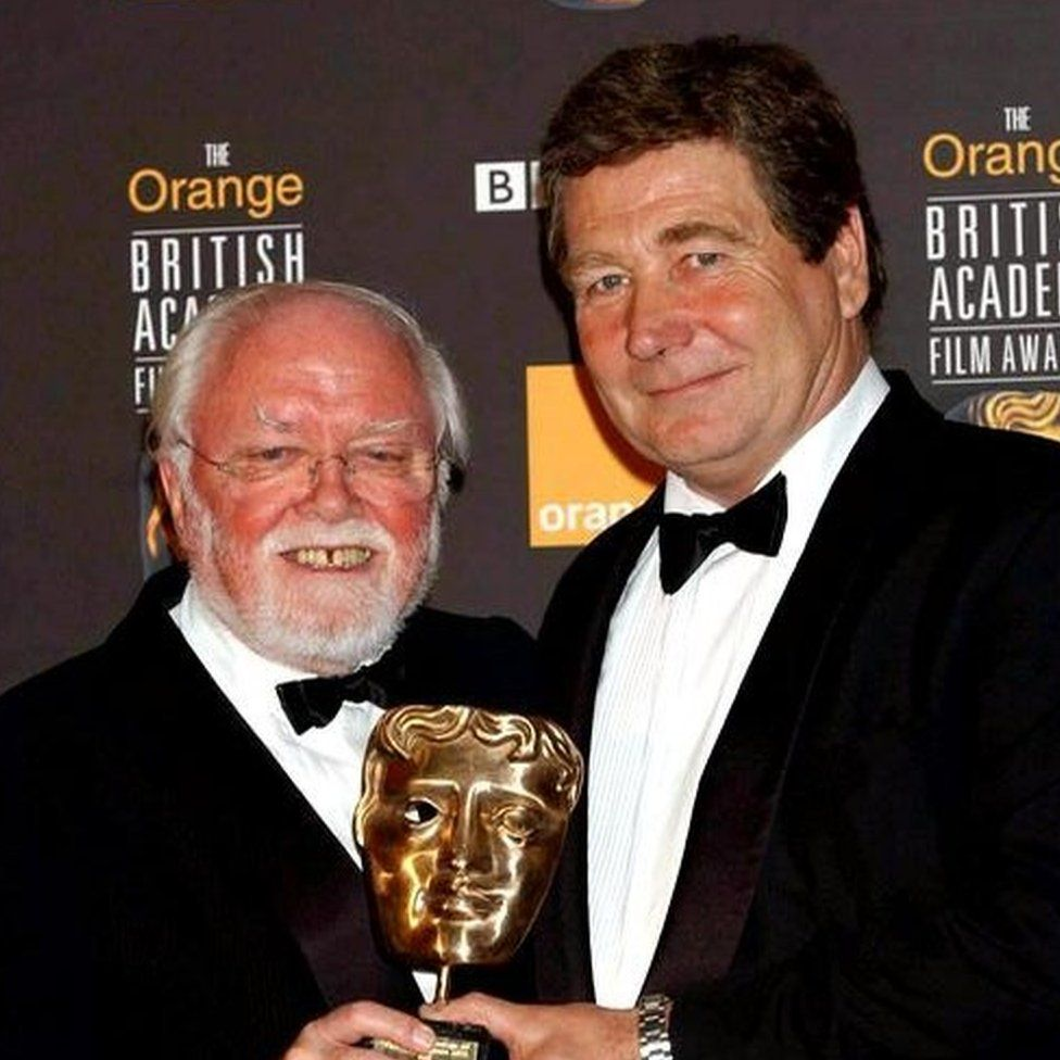 Lord Attenborough presents to Vic Armstrong the Michael Balcon Award for Outstanding British Contribution to Cinema