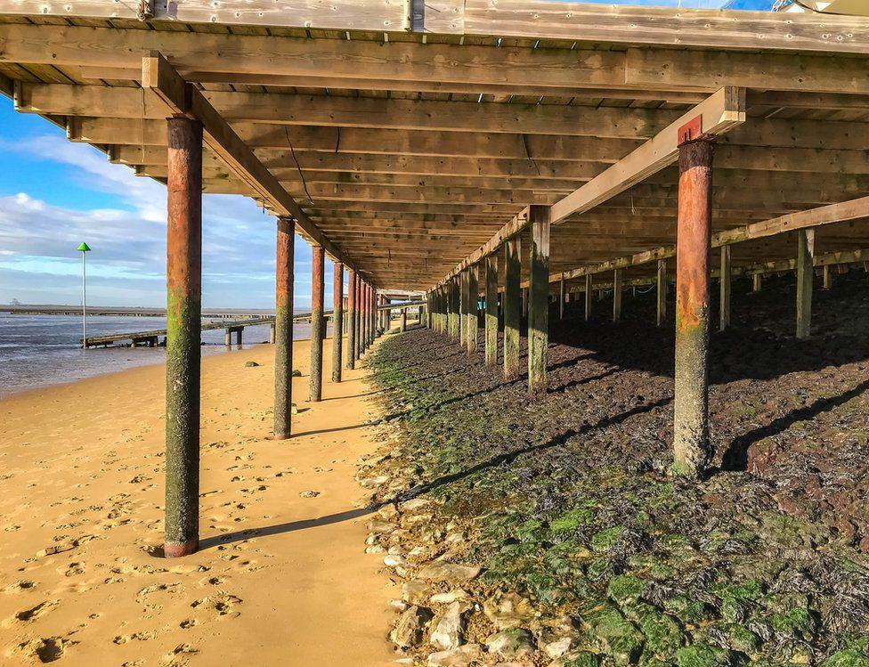 Walkway on a beach