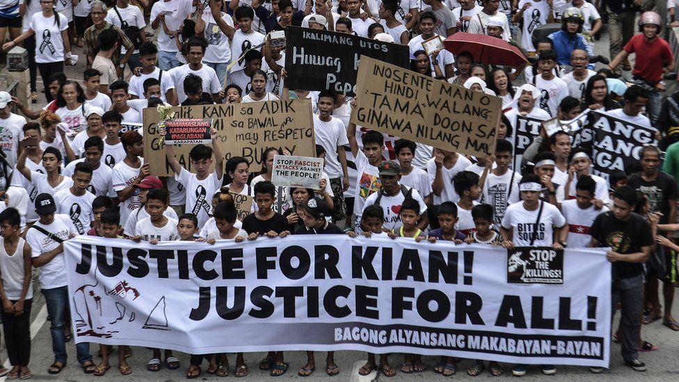 Children protest against killing of Kian delos Santos (26 Aug 2017)