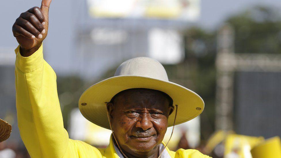 President Museveni pictured in 2016