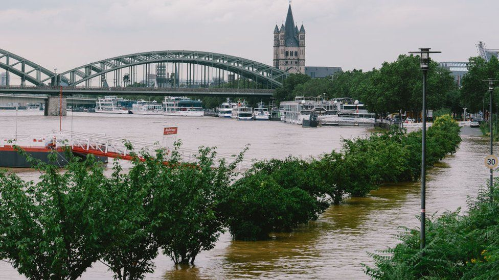 Flooding in Cologne, Germany in July 2021