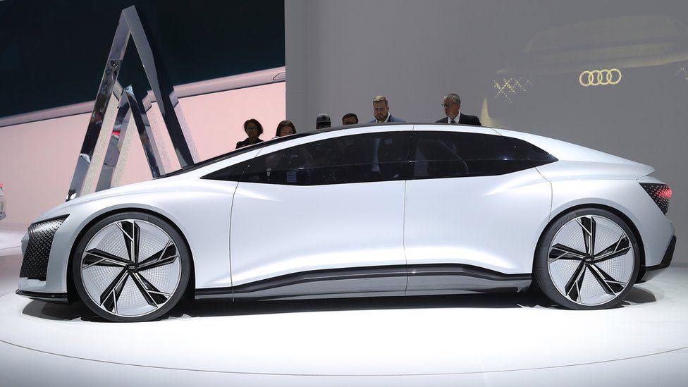 Audi Aicon autonomous electric concept car at the 2017 Frankfurt motor show